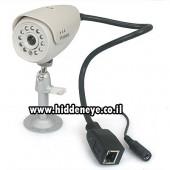מצלמת IP אבטחה, איכתית מאד + ראיית לילה (11 לדים)